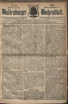 Waldenburger Wochenblatt, Jg. 28, 1882, nr 19