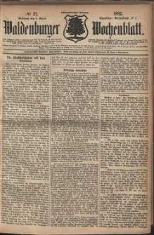 Waldenburger Wochenblatt, Jg. 28, 1882, nr 27