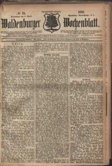 Waldenburger Wochenblatt, Jg. 28, 1882, nr 28