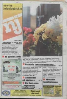 Nowiny Jeleniogórskie : tygodnik społeczny, R. 42, 1999, nr 44 (2159)