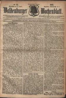 Waldenburger Wochenblatt, Jg. 28, 1882, nr 32