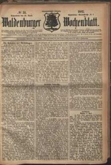 Waldenburger Wochenblatt, Jg. 28, 1882, nr 34