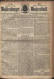 Waldenburger Wochenblatt, Jg. 28, 1882, nr 63