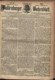 Waldenburger Wochenblatt, Jg. 28, 1882, nr 64