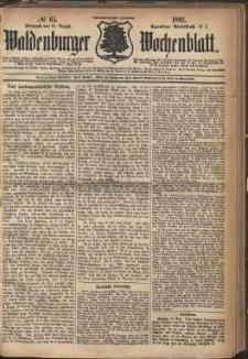 Waldenburger Wochenblatt, Jg. 28, 1882, nr 65