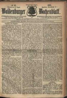 Waldenburger Wochenblatt, Jg. 28, 1882, nr 67