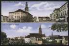 Ohlau – Ring m. Rathaus, Blick zur Kirche [Dokument ikonograficzny]