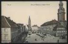 Ohlau – Ring mit Rathaus u. evangel. Kirche [Dokument ikonograficzny]