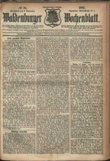 Waldenburger Wochenblatt, Jg. 28, 1882, nr 70