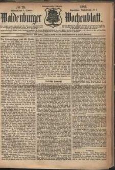 Waldenburger Wochenblatt, Jg. 28, 1882, nr 79