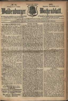 Waldenburger Wochenblatt, Jg. 28, 1882, nr 81