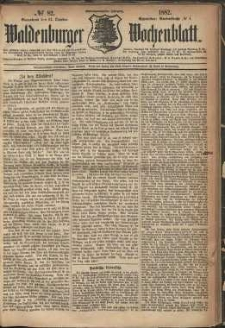 Waldenburger Wochenblatt, Jg. 28, 1882, nr 82