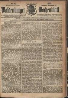 Waldenburger Wochenblatt, Jg. 28, 1882, nr 84