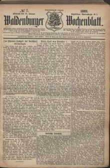 Waldenburger Wochenblatt, Jg. 29, 1883, nr 7