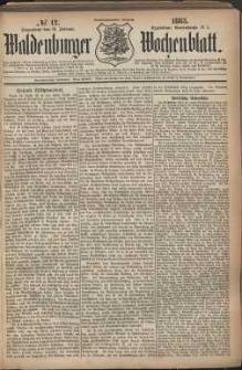 Waldenburger Wochenblatt, Jg. 29, 1883, nr 12