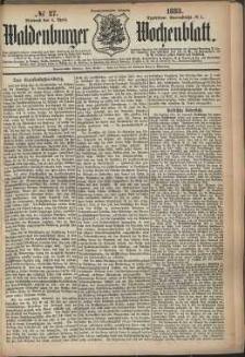 Waldenburger Wochenblatt, Jg. 29, 1883, nr 27