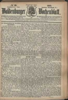Waldenburger Wochenblatt, Jg. 29, 1883, nr 28