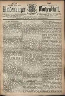 Waldenburger Wochenblatt, Jg. 29, 1883, nr 32