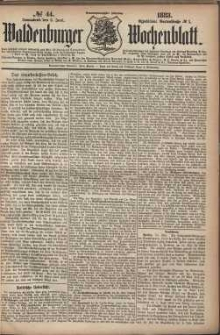 Waldenburger Wochenblatt, Jg. 29, 1883, nr 44