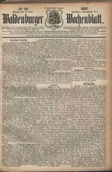 Waldenburger Wochenblatt, Jg. 29, 1883, nr 49