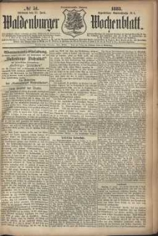 Waldenburger Wochenblatt, Jg. 29, 1883, nr 51