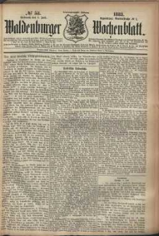 Waldenburger Wochenblatt, Jg. 29, 1883, nr 53