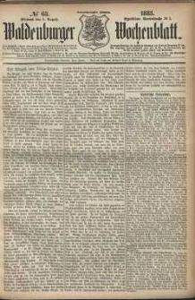 Waldenburger Wochenblatt, Jg. 29, 1883, nr 63