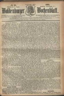 Waldenburger Wochenblatt, Jg. 29, 1883, nr 65