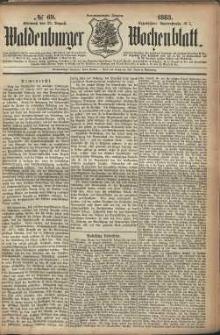Waldenburger Wochenblatt, Jg. 29, 1883, nr 69