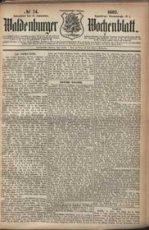 Waldenburger Wochenblatt, Jg. 29, 1883, nr 74