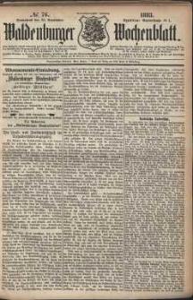 Waldenburger Wochenblatt, Jg. 29, 1883, nr 76