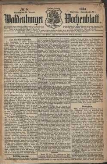 Waldenburger Wochenblatt, Jg. 30, 1884, nr 5