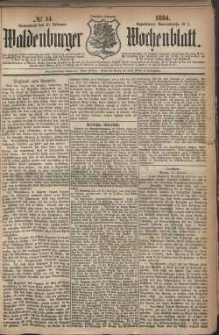 Waldenburger Wochenblatt, Jg. 30, 1884, nr 14