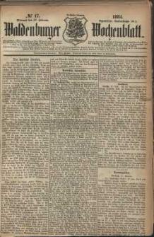 Waldenburger Wochenblatt, Jg. 30, 1884, nr 17