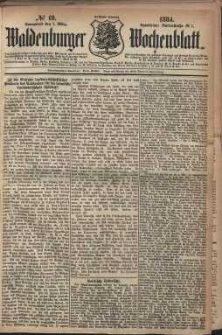 Waldenburger Wochenblatt, Jg. 30, 1884, nr 18