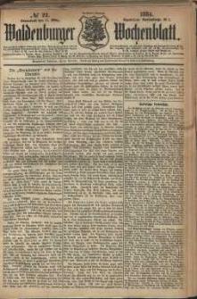Waldenburger Wochenblatt, Jg. 30, 1884, nr 22