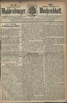Waldenburger Wochenblatt, Jg. 30, 1884, nr 24