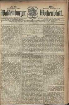 Waldenburger Wochenblatt, Jg. 30, 1884, nr 28