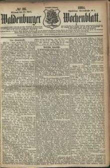 Waldenburger Wochenblatt, Jg. 30, 1884, nr 33