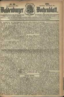 Waldenburger Wochenblatt, Jg. 30, 1884, nr 36