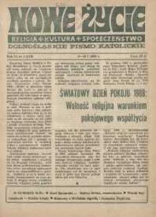 Nowe Życie: dolnośląskie pismo katolickie: religia, kultura, społeczeństwo, 1988, nr 1 (116)