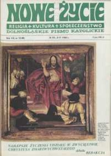 Nowe Życie: dolnośląskie pismo katolickie: religia, kultura, społeczeństwo, 1989, nr 7 (148)