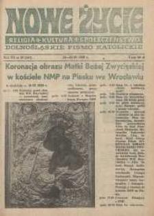 Nowe Życie: dolnośląskie pismo katolickie: religia, kultura, społeczeństwo, 1989, nr 20 (161)