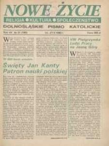 Nowe Życie: dolnośląskie pismo katolickie: religia, kultura, społeczeństwo, 1990, nr 21 (189)