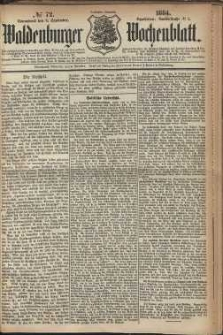 Waldenburger Wochenblatt, Jg. 30, 1884, nr 72
