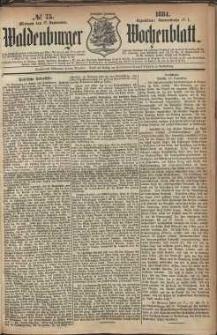 Waldenburger Wochenblatt, Jg. 30, 1884, nr 75