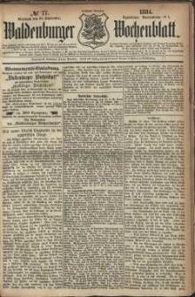 Waldenburger Wochenblatt, Jg. 30, 1884, nr 77