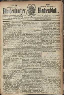 Waldenburger Wochenblatt, Jg. 30, 1884, nr 88