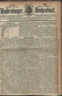 Waldenburger Wochenblatt, Jg. 30, 1884, nr 89