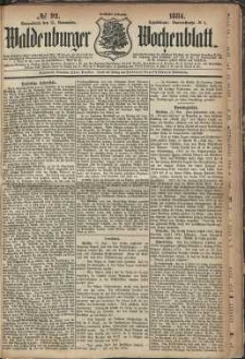 Waldenburger Wochenblatt, Jg. 30, 1884, nr 92
